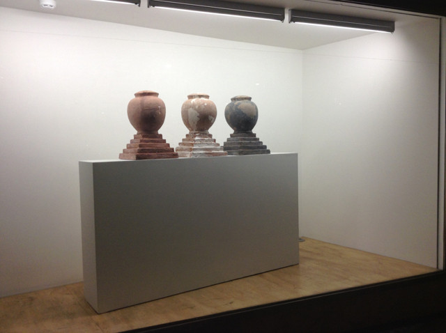 Vases on display in the Window Gallery