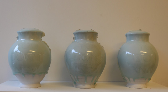 Vases from the the exhibitions