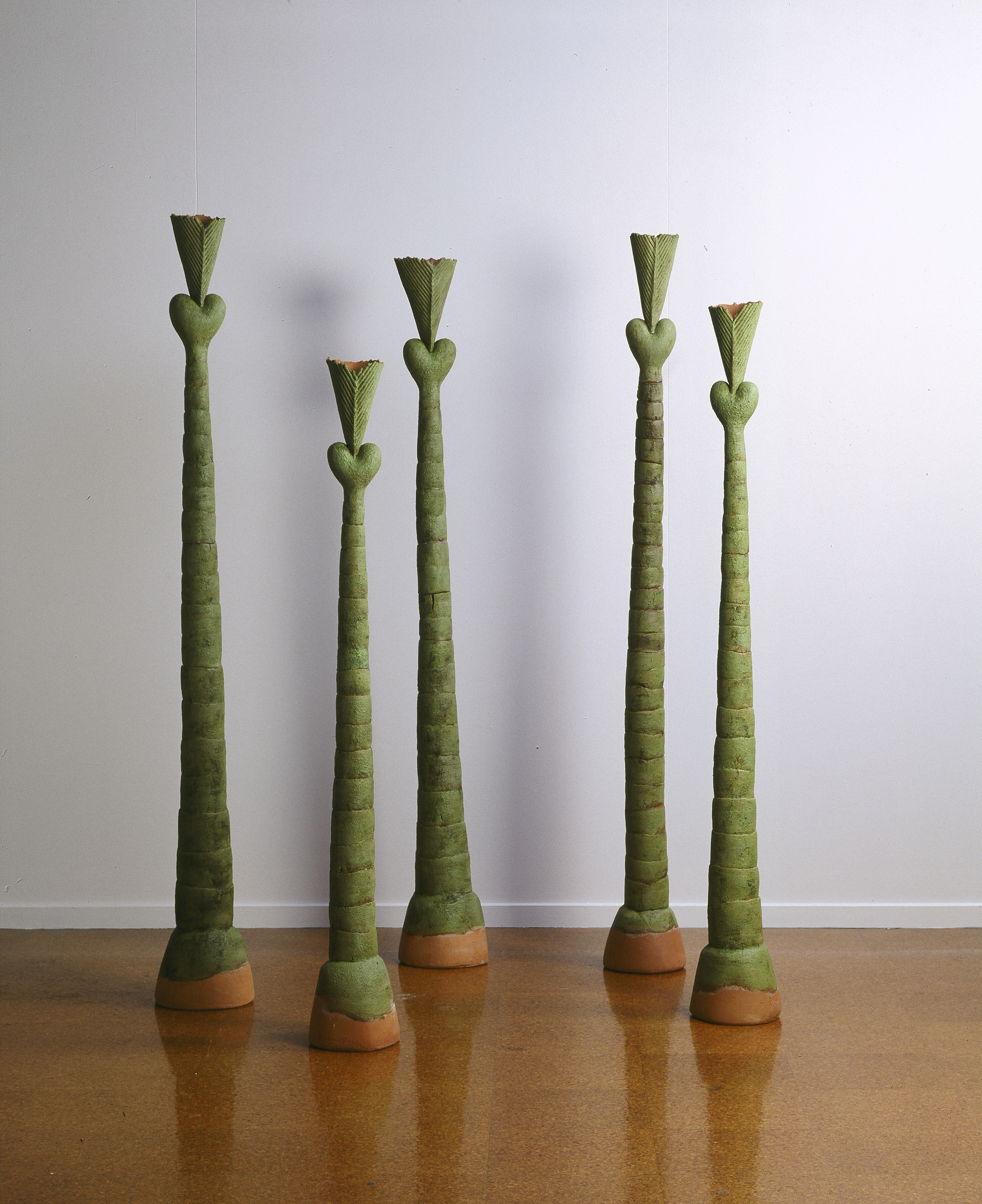 Green Totems 1993 red clay, glaze